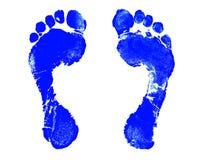 Het Af:drukken van de voet Stock Afbeelding