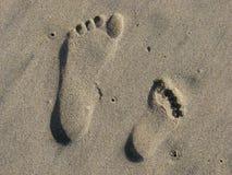 Het af:drukken van het zand Stock Foto