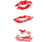 Het af:drukken van lippen Stock Illustratie
