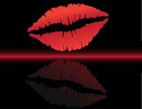 Het af:drukken van lippen Royalty-vrije Stock Fotografie