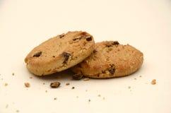 Het afbrokkelende Close-up van Chocoladechip cookies Royalty-vrije Stock Fotografie