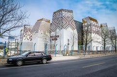 Het afgedankte Paviljoen van Rusland tegen 2010 Stock Foto