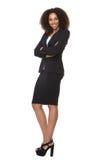 Het Afrikaanse Amerikaanse bedrijfsvrouw glimlachen Royalty-vrije Stock Afbeelding