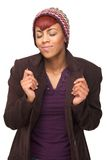 Het Afrikaanse Amerikaanse Dromen van de Dag van de Vrouw Royalty-vrije Stock Foto's