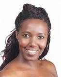 Het Afrikaanse Amerikaanse Glimlachen Royalty-vrije Stock Afbeelding