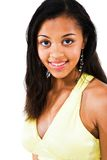 Het Afrikaanse Amerikaanse Glimlachen van de Tiener Stock Foto