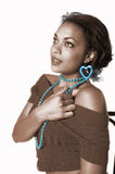 Het Afrikaanse Amerikaanse Meisje van de Glamour Royalty-vrije Stock Afbeelding