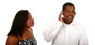 Het Afrikaanse Amerikaanse Paar kan niet Royalty-vrije Stock Afbeelding