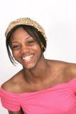 Het Afrikaanse Amerikaanse portret van de meisjesclose-up Royalty-vrije Stock Afbeelding