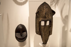 Het Afrikaanse binnenland van beeldhouwwerkseattle Art Museum Royalty-vrije Stock Foto's