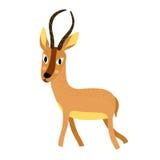 Het Afrikaanse dierlijke karakter van het antilopebeeldverhaal Stock Afbeeldingen