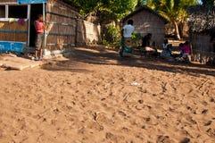 Het Afrikaanse dorpsleven Stock Afbeeldingen