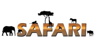 Het Afrikaanse embleem van de Safari Royalty-vrije Stock Afbeeldingen