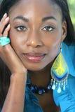 Het Afrikaanse Gezicht van de Vrouw Royalty-vrije Stock Foto