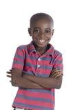 Het Afrikaanse jongen glimlachen Royalty-vrije Stock Foto's