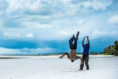 Het Afrikaanse kinderen spelen Stock Afbeeldingen