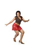 Het Afrikaanse meisje dansen stock foto