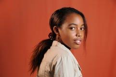Het Afrikaanse meisje van de tiener Stock Afbeelding