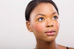 Het Afrikaanse meisje van het schoonheidsportret Royalty-vrije Stock Afbeelding