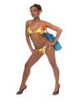 Het Afrikaanse Model van de Bikini royalty-vrije stock fotografie