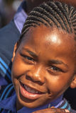 Het Afrikaanse portret van het kindmeisje Stock Foto's