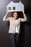Het Afrikaanse symbool van het vrouwenhuis Royalty-vrije Stock Fotografie