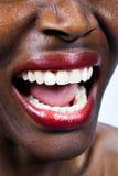 Het Afrikaanse vrouw gillen Stock Foto's