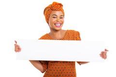 Het Afrikaanse vrouw voorstellen royalty-vrije stock afbeelding