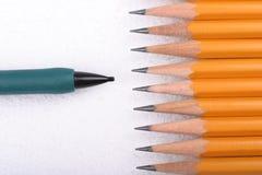 Het Afstand houden van het potlood Stock Afbeeldingen
