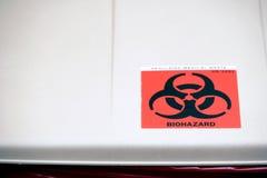 Het afval van Biohazard kan Royalty-vrije Stock Afbeeldingen
