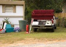 Het Afval van de aanhangwagen Stock Afbeelding