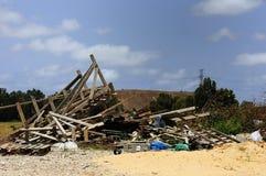 Het afval van de bouw Stock Foto