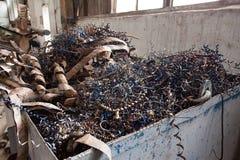 Het afval van de metaalfabriek Stock Fotografie
