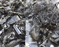 Het afval van het aluminium royalty-vrije stock foto