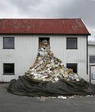Het afval van het venster Stock Afbeelding