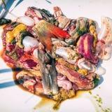 Het afval van visseningewanden op wit royalty-vrije stock fotografie