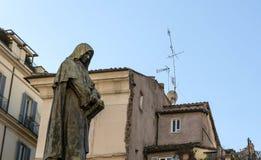 Het afvallig Giordano Bruno Royalty-vrije Stock Foto