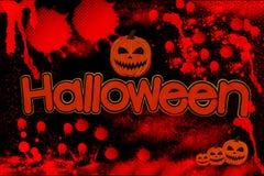 Het afzonderlijke woord van Halloween met bloed op zwarte Stock Afbeeldingen