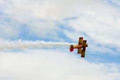 Het Akte van de tweedekker in Airshow Stock Afbeelding