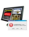 Het alarm van de Diefstal van identiteitskaart van de computer Stock Foto's