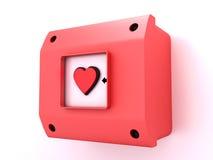 Het alarm van de liefde stock illustratie