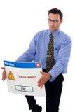 Het alarm van het virus Stock Fotografie