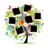 Het album van de familie. Bloemen boom stock illustratie