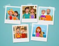 Het album van de familiefoto Mensen, ouders en kinderenconcept De vectorillustratie van het beeldverhaal stock illustratie