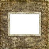 Het album van Grunge voor de foto met oude nota's stock illustratie