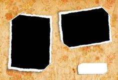Het albumpagina van het plakboek Stock Afbeelding