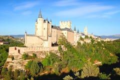 Het Alcazar-kasteel segovia stock afbeeldingen