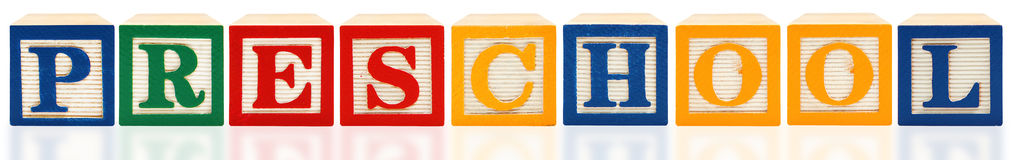 Het alfabet blokkeert Kleuterschool Stock Afbeelding
