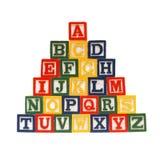 Het alfabet in Blokken Royalty-vrije Stock Afbeelding