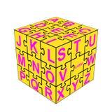 Het alfabet dobbelt Stock Foto